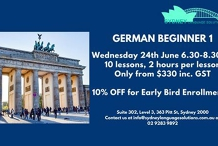 German Beginner 1 course