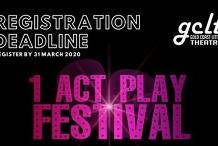 One Act Play Festival Registration Deadline