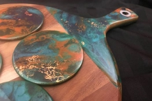 1pm Wed 17 June Cheeseboard & Coaster Resin Class