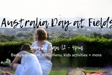 Australia Day BBQ at Fields
