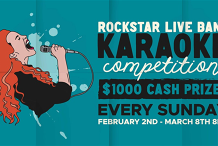Live Karaoke Contest - $1000 Cash!