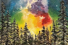 Paint & Sip Northcote Studio - Fantasy Mountain