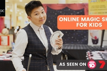 Attend from home (online) Magic Show by Australia's best kids magician