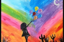 Paint and Sip Class - Balloon Girl (Feb 10)