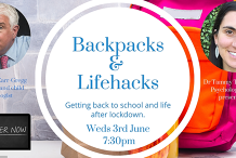 Backpacks and Lifehacks - getting back to school and life after lockdown with Dr Michael Carr-Gregg and Dr Tammy Tempelhof