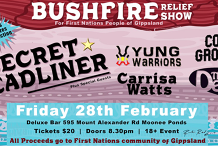 Fire Relief Fundraiser for First Nations People of Gippsland