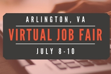 Arlington Virtual  Job Fair - July 8-10, 2020