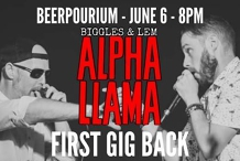Alpha Llama - Live At Beerpourium - First Gig Back