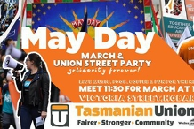 Hobart May Day March + Street Party