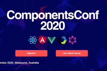 ComponentsConf - React   Angular   VueJS   Svelte   JavaScript