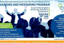 Onboarding and mentoring program for newly arrived migrants