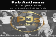 Pub Anthems at PJs in the City