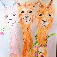 Paint and Sip Class - Happy Llamas