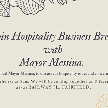 Business breakfast with local Mayor Messina
