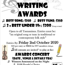Folk Federation Song and Tune Writing Awards - NOW OPEN