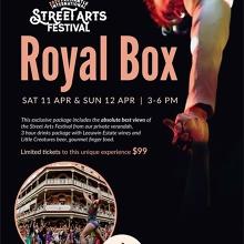 Royal Box for the Fremantle Street Arts Festival