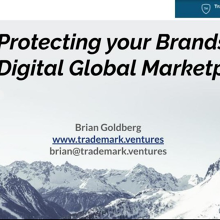 Protecting your Brands in a Digital Global Marketplace