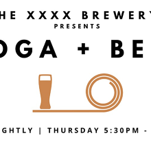Yoga + Beer at the XXXX Brewery