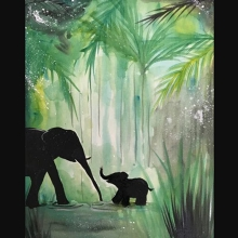 Paint and Sip Class - in the Jungle