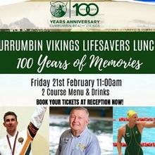Currumbin Vikings Lifesavers Lunch '100 Years of Memories'