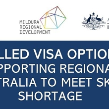 Skilled Visa Options - Supporting regional Australia to meet skill shortage