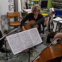 Bach in the Dark - Cello and Classical Guitars - Live Streaming