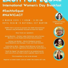 NAWIC ACT - International Women's Day Breakfast - Each for Equal