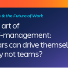 The art of self-management: If cars can drive themselves, why not teams?