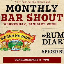 Free Beer & Rum Shout! Sierra Nevada & Rum Diary Spiced Rum