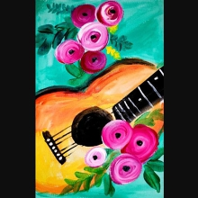 Paint and Sip Class - Guitars & Roses (Mar 02)