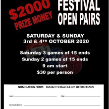 October Festival Open Pairs