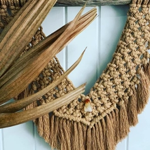 Coffee and cake with creative knots!  MACRAME Workshop