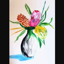Paint and Sip Class - Wildflowers
