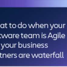 What to do when your software team is Agile but your Business Partners are waterfall