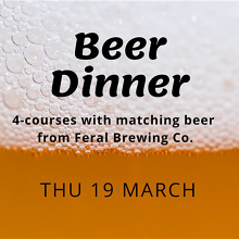 Feral Brewing Co. Beer Dinner