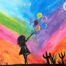 Paint and Sip Class - Balloon Girl (Feb 10)