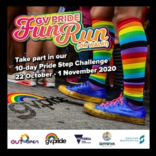 GV Pride Fun Run/Walk - Thu 22 Oct to Sun 1 Nov