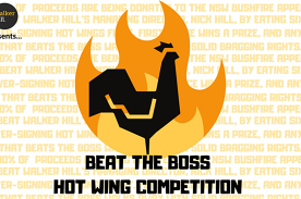 Beat the Boss Hot Wings Competition For the NSW Bushfire Appeal