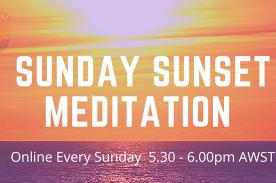Sunday Sunset Meditation Online