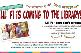 Lil' Fi is coming to the library!