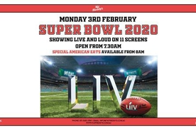 Super Bowl 2020 LIVE AT Fat Freddy's