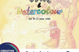Ink and Watercolour course for 8-12 year olds