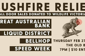 Bushfire Relief w/ GAB & friends at The Old Bar