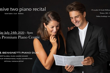 Spina & Benignetti Piano Duo at the Yamaha Premium Piano Centre Melbourne