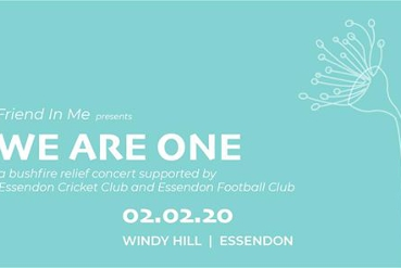 We Are One - Bushfire Relief Concert