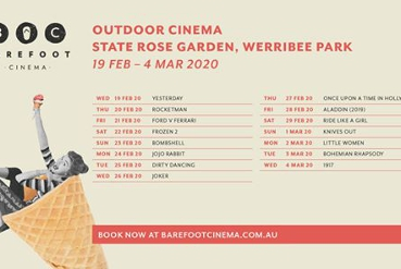 Barefoot Cinema at Werribee Mansion
