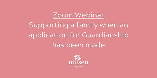 Supporting a family when an application for Guardianship has been made