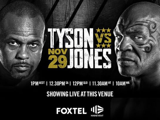 Mike Tyson vs. Roy Jones Jr. | Screening live at the Kingy
