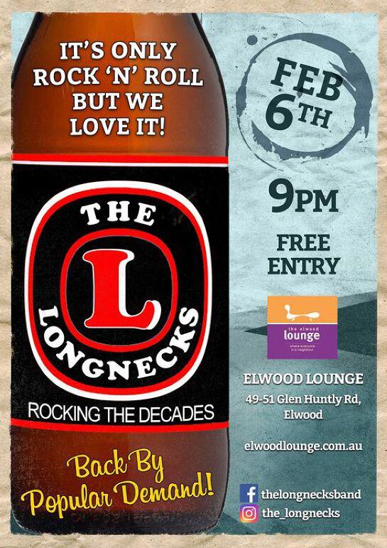 The Longnecks, Elwood Lounge, February 6th 2021