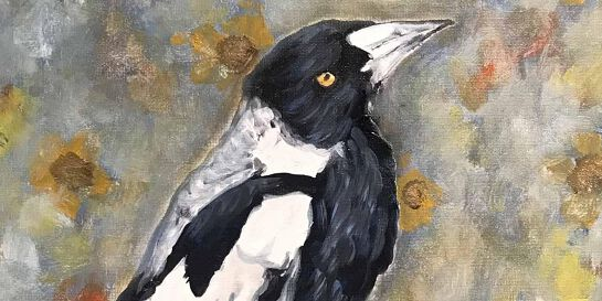 Acrylic Painting - MAGPIE (Paint and Sip)